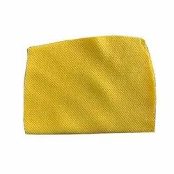 Plain Yellow Cotton Fabric, For Garments, Packaging Type: Lump