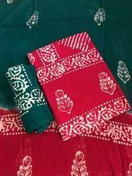 Red Batik Salwar Suits