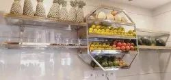 WALL MOUNTED FRUIT STORAGE RACK