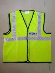Reflective Vizwear Vests / Jackets 2 Green Front Opening (v-7)