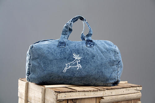 Roman Island Light Blue Denim Bags