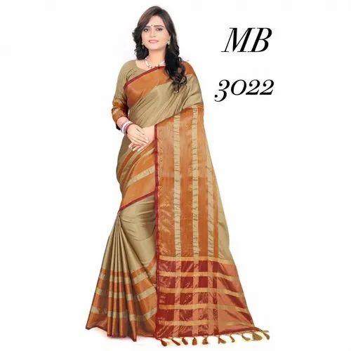 50a4d82885 Deepkala Soft Cotton Silk Saree at Rs 349 /packet | Saree - Navy Art ...