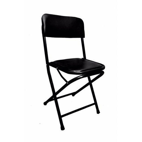 Stainless Steel Black Cushion Folding Chair