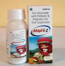 Zinc Gluconate With Prebiotics And Probiotics Oral Suspension