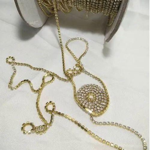 Golden Artificial Decorative Stone Chain