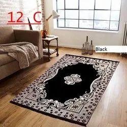 Kanha Overseas Rectangular Printed Chenille Carpets
