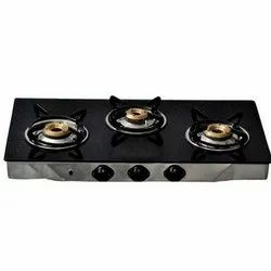 Red & Black Marble Gas Stove