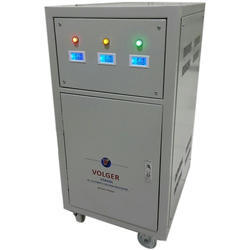 Gray 35 KVA Automatic Three Phase Voltage Stabilizer