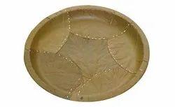 11 Inch Round Sal Leaf Plate