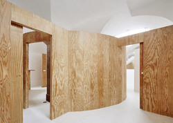 Office Interior Wooden Partition