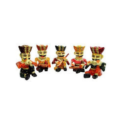 Wooden Printed Rajasthani Musicians Decorative Items