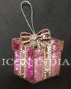 Icon India Pink Handmade Christmas Gift Box Hanging, Size: 3 X 3