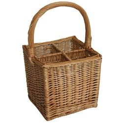 Wine Square Cane Basket