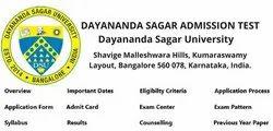 Dayananda Sagar College of Engineering Admission 2020