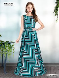 Western C Green Gowns Long