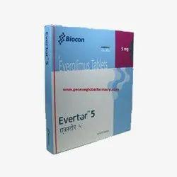Evertor Tablet (Everolimus 10 MG)
