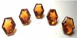 Citrine Fancy Cut Hexagonal Gemstone