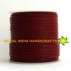 Red Round Leather Cords