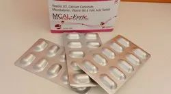 Calcium Carbonate With Vitamin D3 With Multivitamin Tablets, Packaging Type: Alu Alu