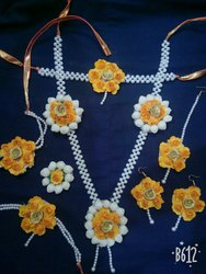 Artificial Yellow flowers jewellery set
