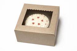 Kraft Window Cake Box 4x4x4