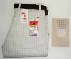 Hanex Checks Cotton Trousers
