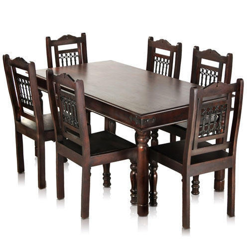 Rectangular Solid Wood Dining Table Set For Home Rs 33000 Set Id 19214810130