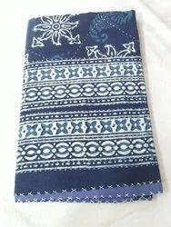 Kantha Printed Indigo Bed Cover