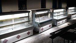 Stainless Steel Rectangular Corian Sweet Display Counter