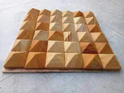 Natural Teak Wood Sandstone Tiles, Size (In cm): 30 * 30 (mm)