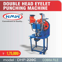 Double Head Eyelet Punching Machine