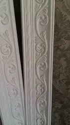 Plaster Of Paris Floral Designed POP Cornice