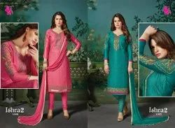Khushika Embroidered Churidar Suit