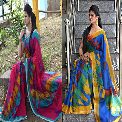 dfb7f04b0a9fc Kota Silk Party Wear Satin Border Saree