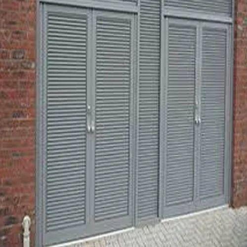 Grey Aluminium Louver Door Rs 220 Squarefeet Star