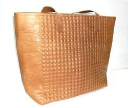 Embossed Leather Tote Bag