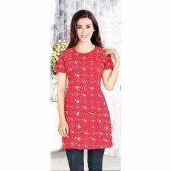 Ladies Cotton Half Sleeve Night Suit, Size: M-XXL