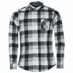 Collar Neck Checked Casual Wear Mens Check Shirt