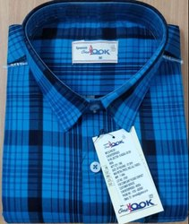 Blue Full Sleeve Shirts, Size: M L XL
