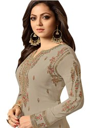 Party Wear Ubstiched Georgette Unstitched Suits, Size: 44-45