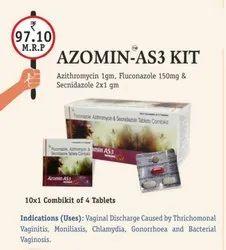 Azithromycin 1gm, Fluconazole 150mg And Secnidazole 2x1 gm