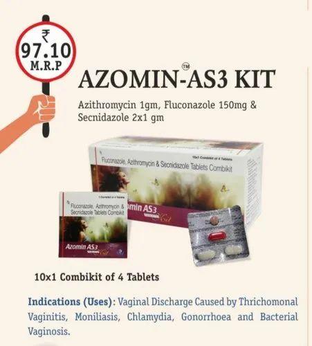 Azithromycin Fluconazole And Secnidazole Tablet