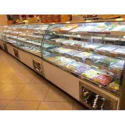 Bend Glass Sweet Display Counter