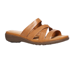 Synthetic Tan Brown Chappals For Women, Size: 3, 4, 5, 6
