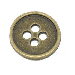 Metal Round Four Hole Sewing Buttons, For Shirt, Packaging Type: Polypack