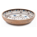 Wooden Medium Size Enamel Indian Food Serving Bowl