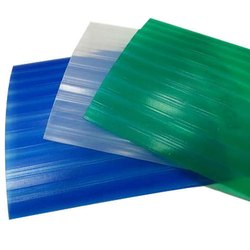 Clear Glass Plain FRP Roofing Sheet, Thickness: 1-3 mm