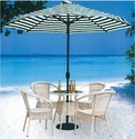 White Outdoor Chair And Table