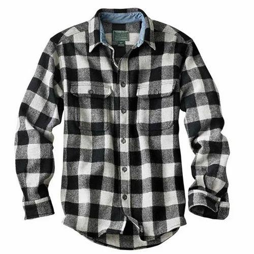 Flannel Shirt Regular Fit Black White Checked Men H M 1