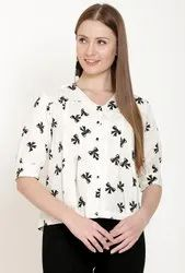 Printed Ladies Designer Tops